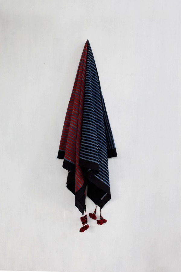 Ajrakh Scarf – All stripes