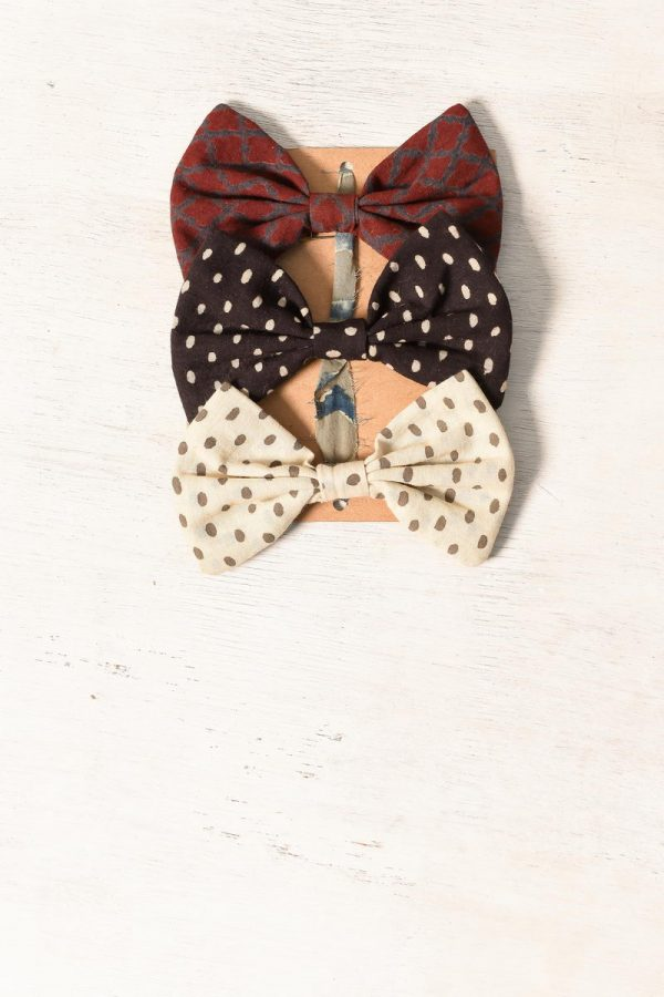 Ajrakh Bow Tie – Set of 3