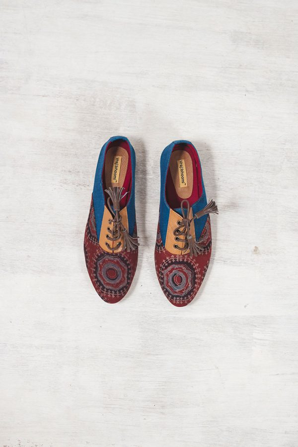 Brogues –  Blue & burgundy