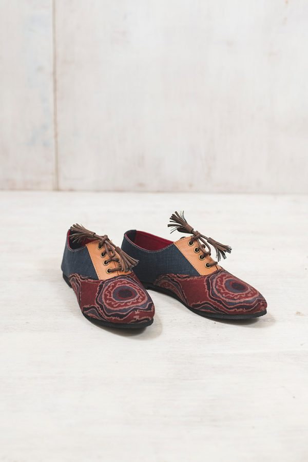 Brogues –  Grey & burgundy
