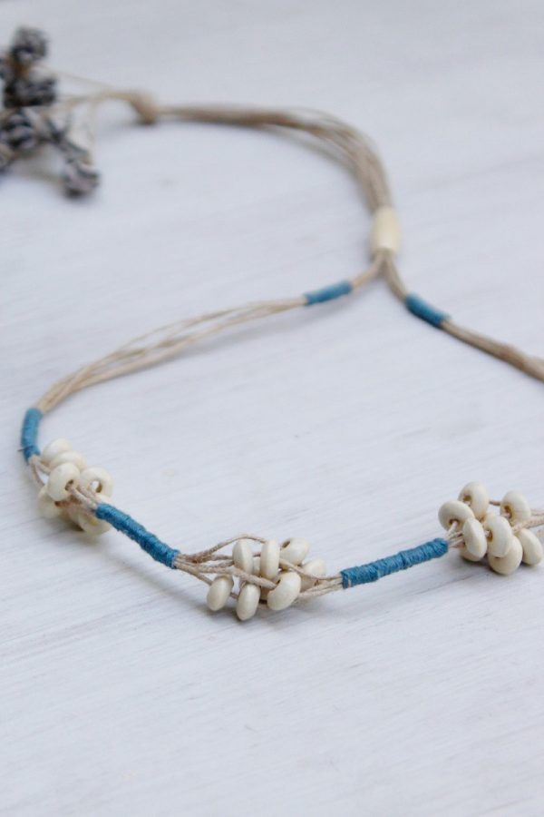 Bead & Thread Drawstring Necklace