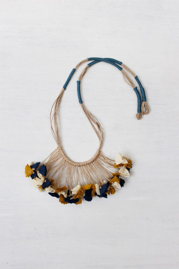 Handmade Textile Tassel Necklace – 6