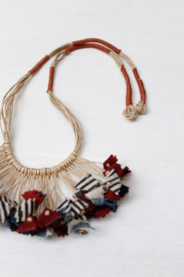Handmade Textile Tassel Necklace – 4