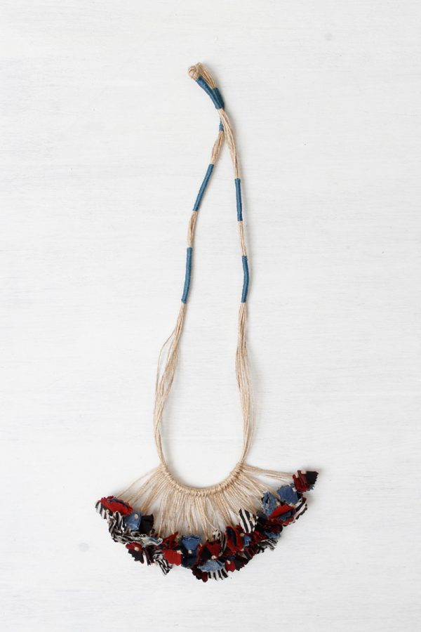 Handmade Textile Tassel Necklace – 2