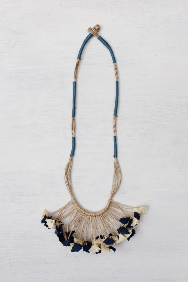 Handmade Textile Tassel Necklace – 5