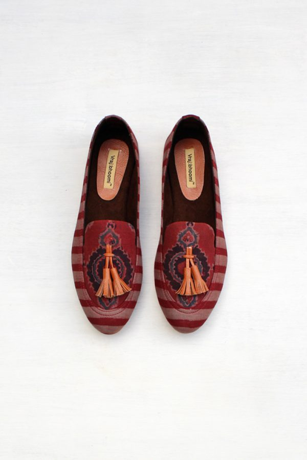 Loafers – Burgundy Stripes