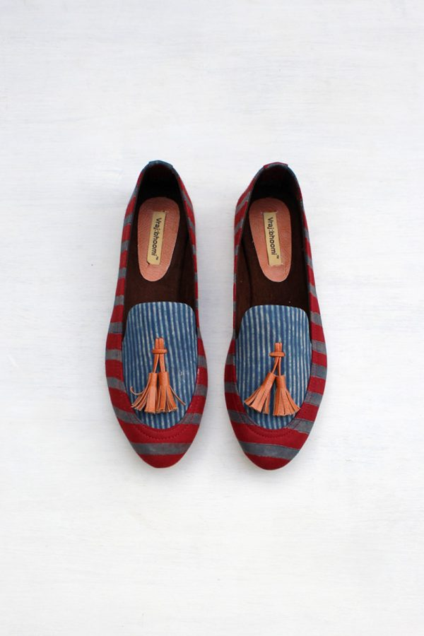 Loafers – Red & Indigo All Stripes
