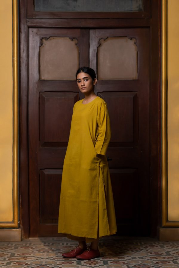 Pale Yellow Basic Kurta