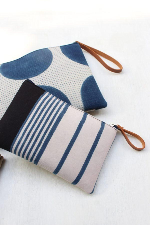 Travel Essentials Pouch (Set of 2) – Indigo