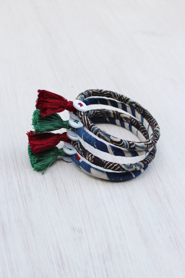 Handmade Ajrakh Bangles – Set of 4