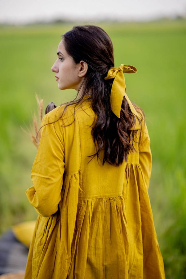 Side Pleat Tunic – Mustard